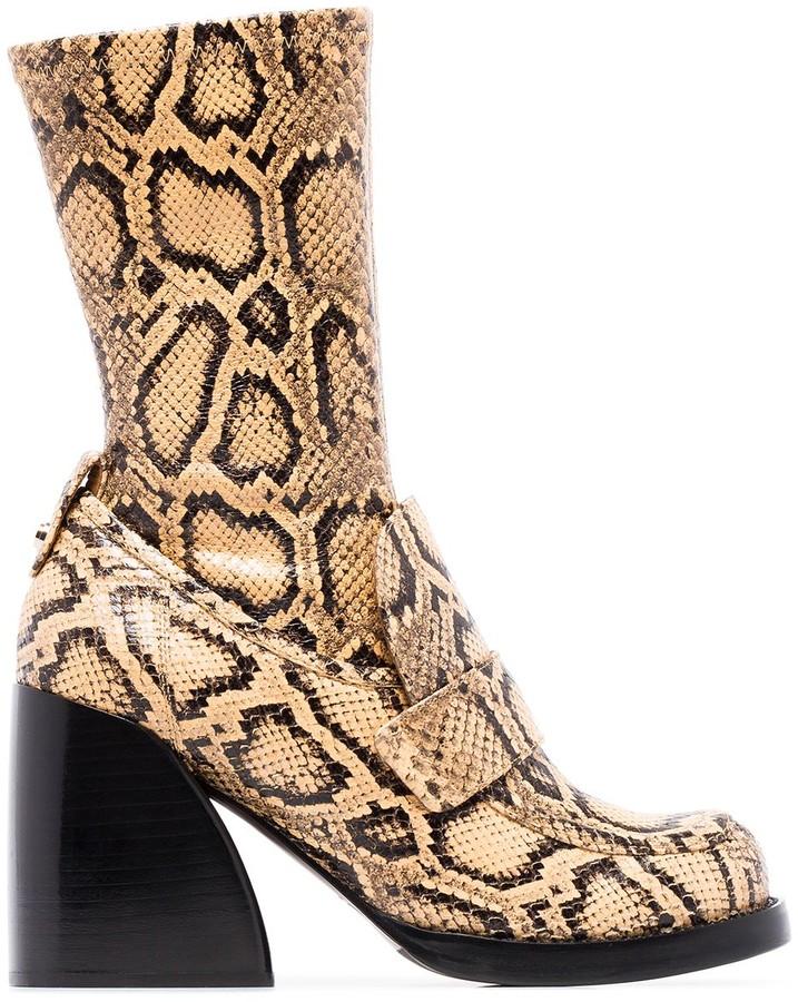 Chloé Adelie 90mm snake-effect boots