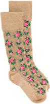 Gucci rose pattern socks