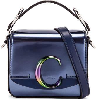 Chloé Mini C Iridescent Box Bag in Captive Blue | FWRD