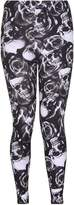 Fashion Union Womens Rose Skull Print Stretchy Leggings