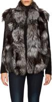 Vince Women's Fur Stand Collar Vest