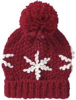 Joe Fresh Women's Snowflake Applique Hat, Red (Size O/S)