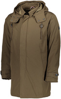 Ben Sherman Olive Hidden-Placket Hooded Coat