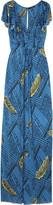 T-Bags Jersey V-neck maxi dress