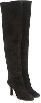 Saint Laurent Jane 90 suede over-the-knee boots