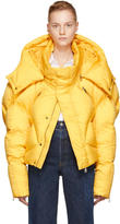 Chen Peng Yellow Short Quilted Puffer Jacket