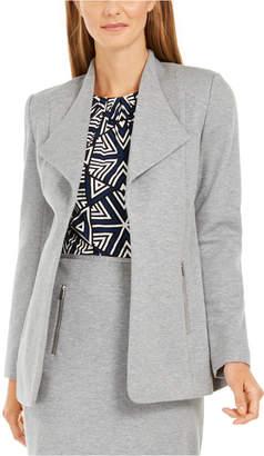Calvin Klein Open-Front Wing-Collar Blazer