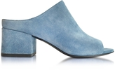 3.1 Phillip Lim French Blue Suede Cube Mule