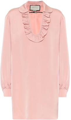 Gucci Embellished faille dress