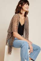 Anthropologie Jessie Leopard Kimono