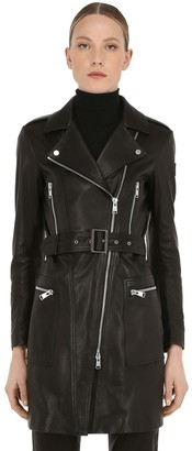 Belstaff Marvingt Leather Biker Coat
