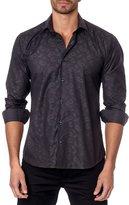 Jared Lang Paisley-Print Sport Shirt, Gray