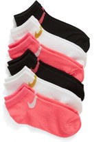 Nike Girl's 6-Pack Low Cut Performance Socks