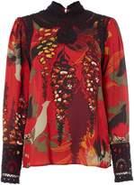 Biba Printed victoriana blouse