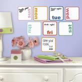 RoomMates 5 in. W x 11.5 in. H Days of the Week Planner Dry Erase 8-Piece Peel and Stick Wall Decal