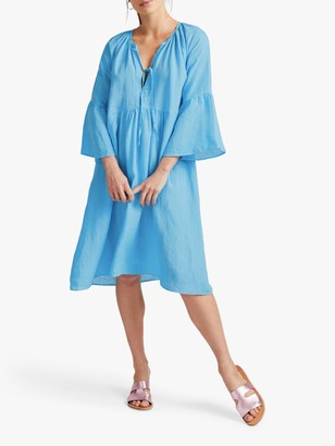 NRBY Elizabeth Linen Fluted Sleeve Dress