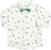 Animals Printed Cotton Poplin Shirt