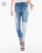 Chico's Indigo Patchwork Girlfriend Ankle Jeans