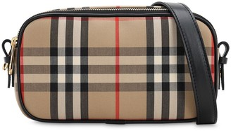 Burberry MICRO CAMERA CHECK COATED CANVAS BAG