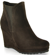 Footnotes Jamilla - Suede Wedge Elastic Bootie