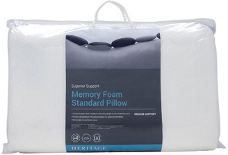 Heritage Memory Foam Low Profile Medium Pillow No Colour