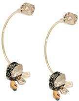 Lanvin adorned curved earrings
