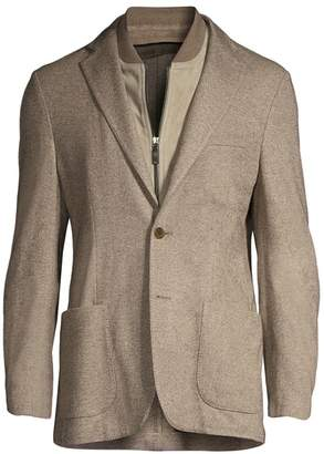 Corneliani Solid Twill Single-Breasted Jacket