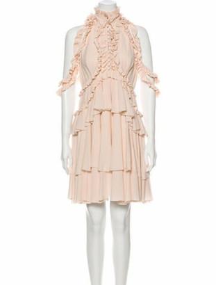 Alexander McQueen 2015 Mini Dress Pink