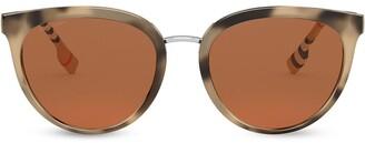 Oversize Frame Check Print Sunglasses