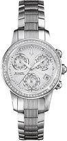 Bulova Accutron Watch, Women's Swiss Chronograph Masella Diamond Accent Stainless Steel Bracelet 31mm 63R136