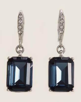 Givenchy Rhodium-Tone & Blue Drop Earrings