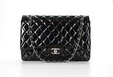 Chanel Black Patent Maxi Double Flap Bag
