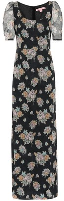 Brock Collection Quanica floral cotton maxi dress