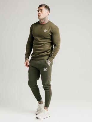 SikSilk Muscle Fit Jogger - Khaki