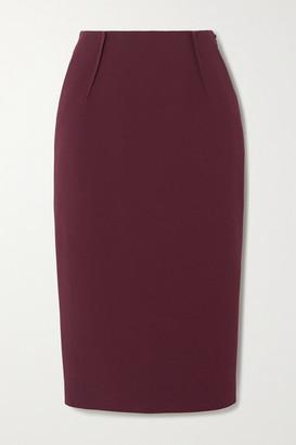 Altuzarra Lester Crepe Midi Skirt - Burgundy