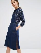 Vero Moda Marika Denim Below Knee Dress