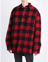 Vetements Checked oversized flannel shirt