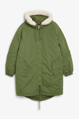 Monki Hooded parka coat