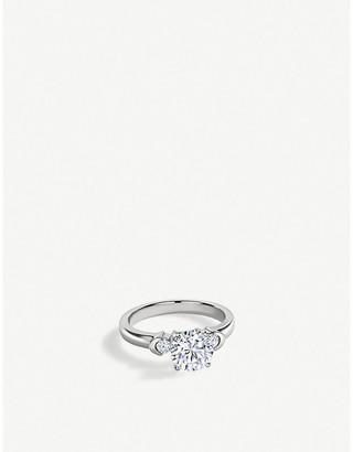 VASHI Distinctive Three Stone 18ct white-gold and diamond engagement ring