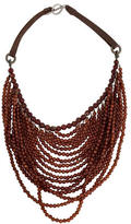 Brunello Cucinelli Hessonite Garnet Beaded Multistrand Necklace