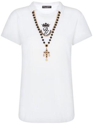 Dolce & Gabbana Jewel Necklace T-Shirt