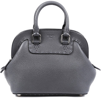 Fendi Grey Leather Mini Adele Satchel