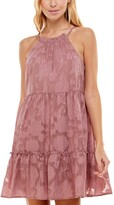 Thumbnail for your product : Trixxi Juniors' Burnout Tiered Halter Dress