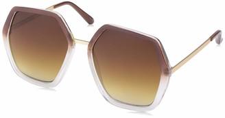 Laundry by Design Women's Ld275 BRN Non-Polarized Iridium Round Sunglasses