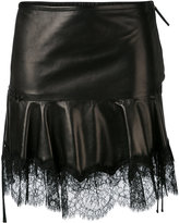 Roberto Cavalli fringed skirt - women - Silk/Leather/Polyamide/Viscose - 38