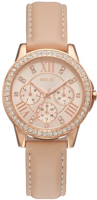 Relic by Fossil Women's Layla Crystal Leather Watch