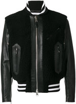 Givenchy shearling panel jacket - men - Calf Leather/Lamb Skin/Acrylic/Wool - 48