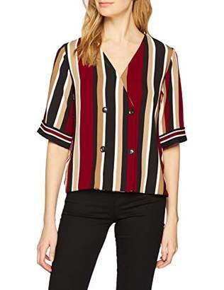 Dorothy Perkins Women's Twill Four Button Shirt Blouse,8 (Manufacturer Size:8)