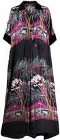 Sacai tropical print maxi dress