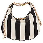 Nina Ricci Kuti Stripe Satin Chain Bag